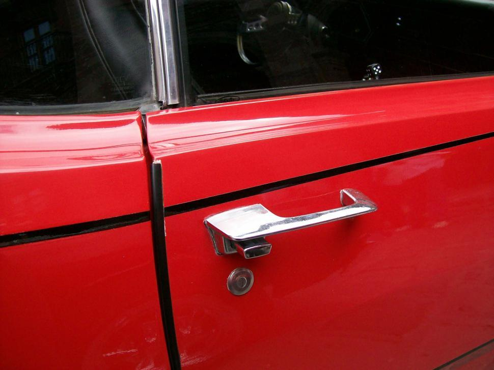 Download Free Stock HD Photo of Red Car Black Stripe Online