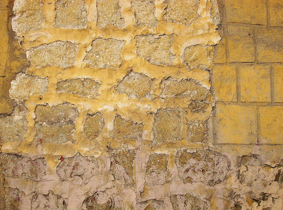Download Free Stock Photo of Yellow Wall Texture