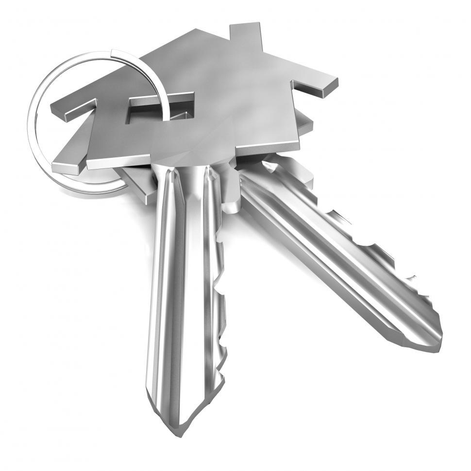 Download Free Stock HD Photo of Home Keys Shows House Security Or Locked Online