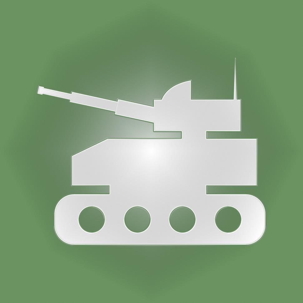 Download Free Stock Photo of Tank Icon Means Armed War And Weapons