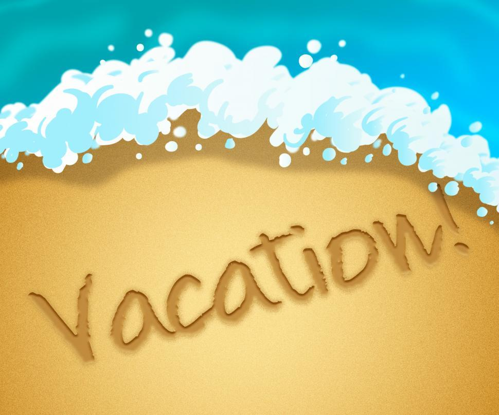 Download Free Stock HD Photo of Vacation Beach Indicates Getaway Holiday 3d Illustration Online