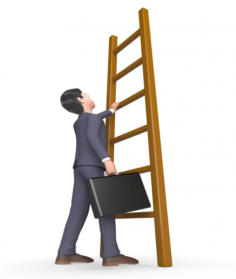 Download Free Stock HD Photo of Climb Character Means Hard Times And Advance 3d Rendering Online