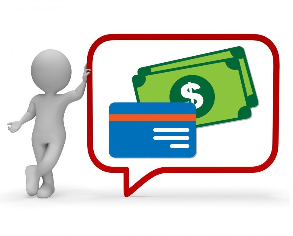 Download Free Stock HD Photo of Money Speech Bubble Shows Chatting Speaking 3d Rendering Online