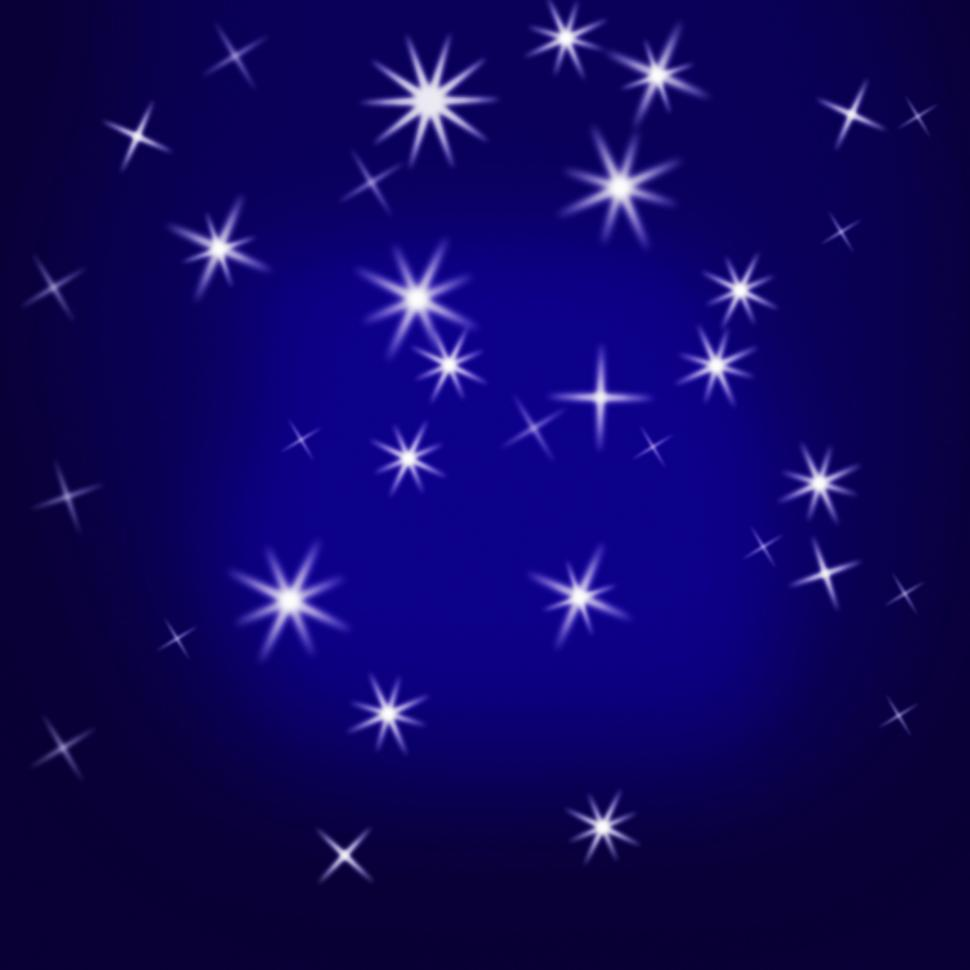 Download Free Stock HD Photo of Sparkling Stars Background Means Glittering Galaxy Or Universe Online