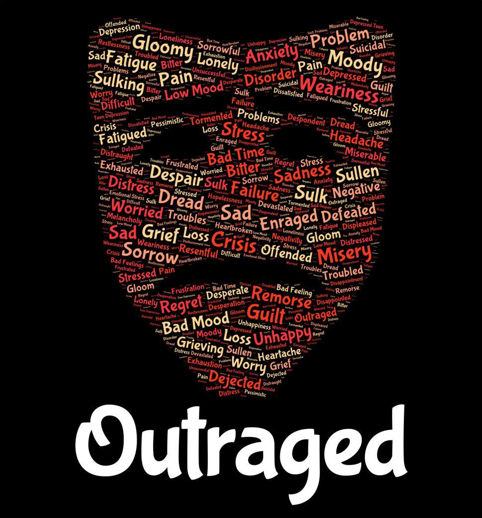 Download Free Stock HD Photo of Outraged Word Represents Text Horrify And Disgust Online