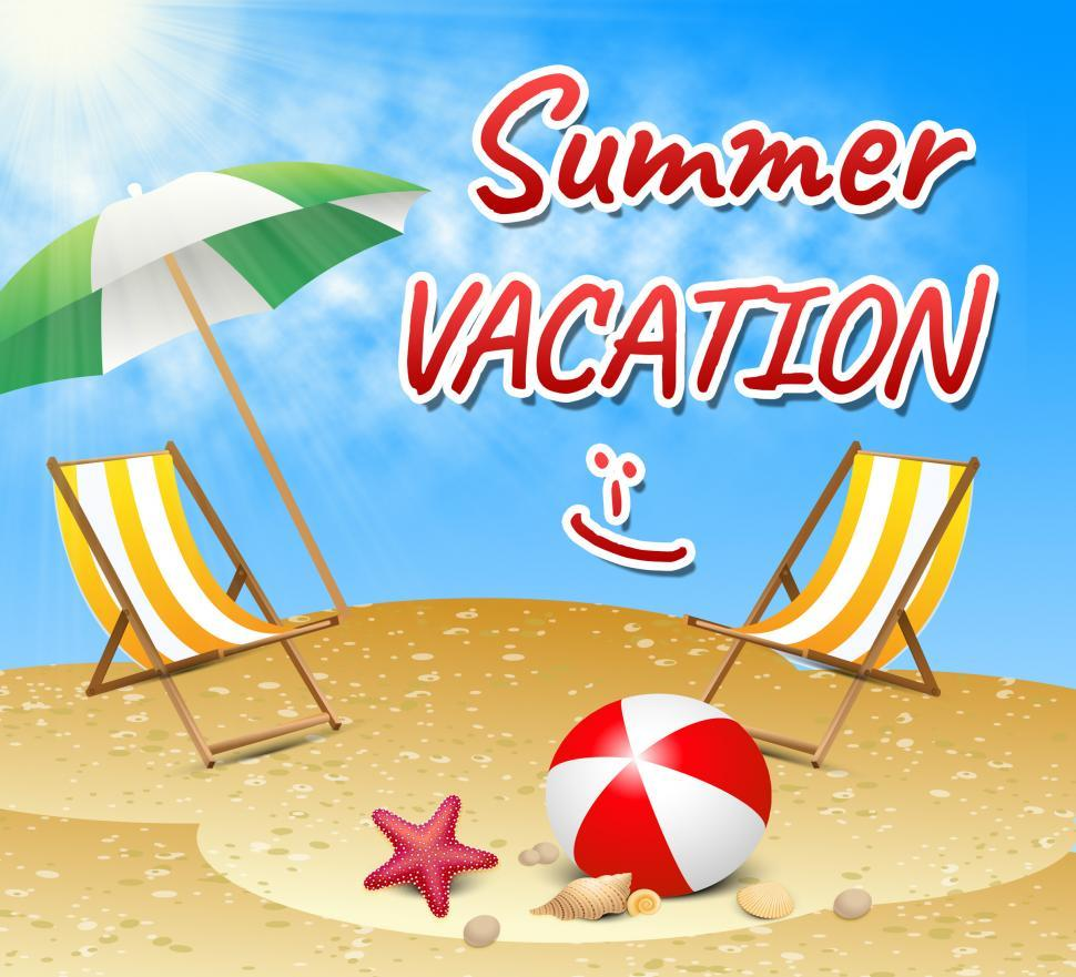 Download Free Stock Photo of Summer Vacation Shows Vacation Season Beach Getaway