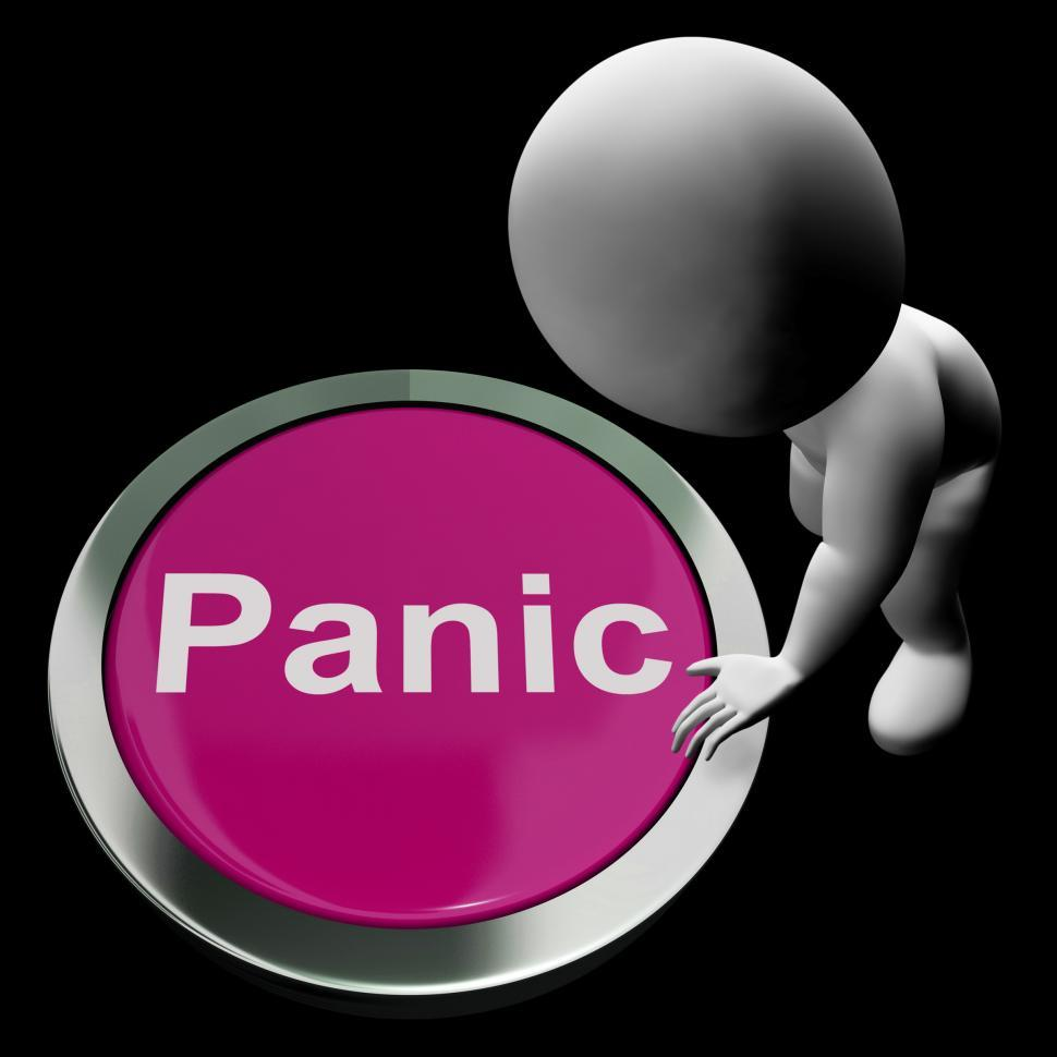 Download Free Stock HD Photo of Panic Button Shows Alarm Distress And Crisis Online