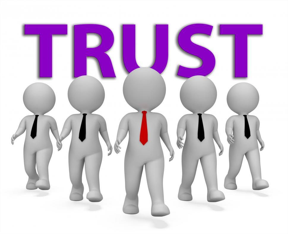 Download Free Stock HD Photo of Trust Businessmen Indicates Trusted Trusts And Faith 3d Renderin Online
