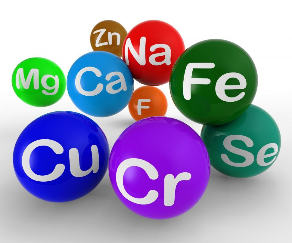Download Free Stock HD Photo of Chemical Symbols Showing Chemistry And Science Online
