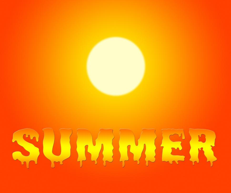 Download Free Stock HD Photo of Summer Sun Represents Summertime Holiday And Vacation Online