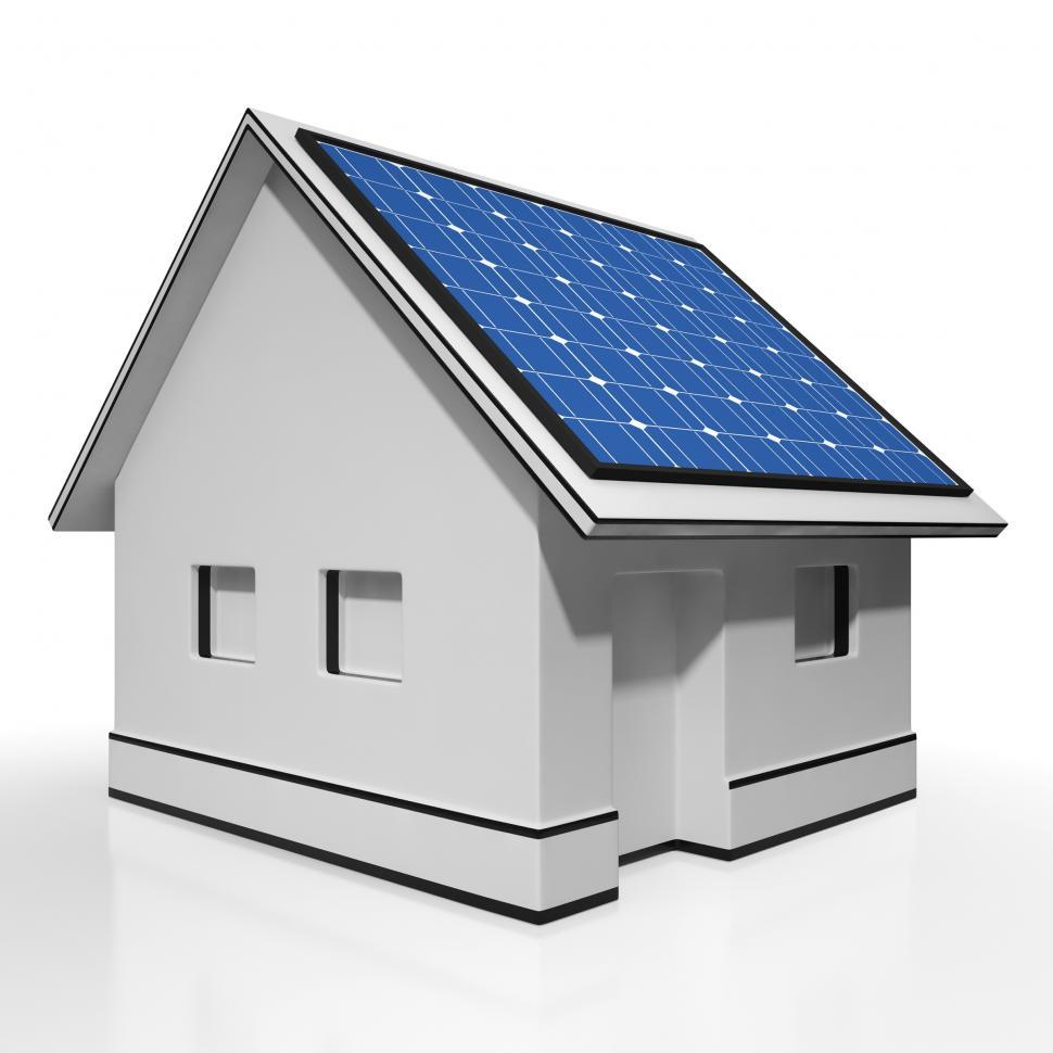 Download Free Stock Photo of House With Solar Panels Shows Sun Electricity