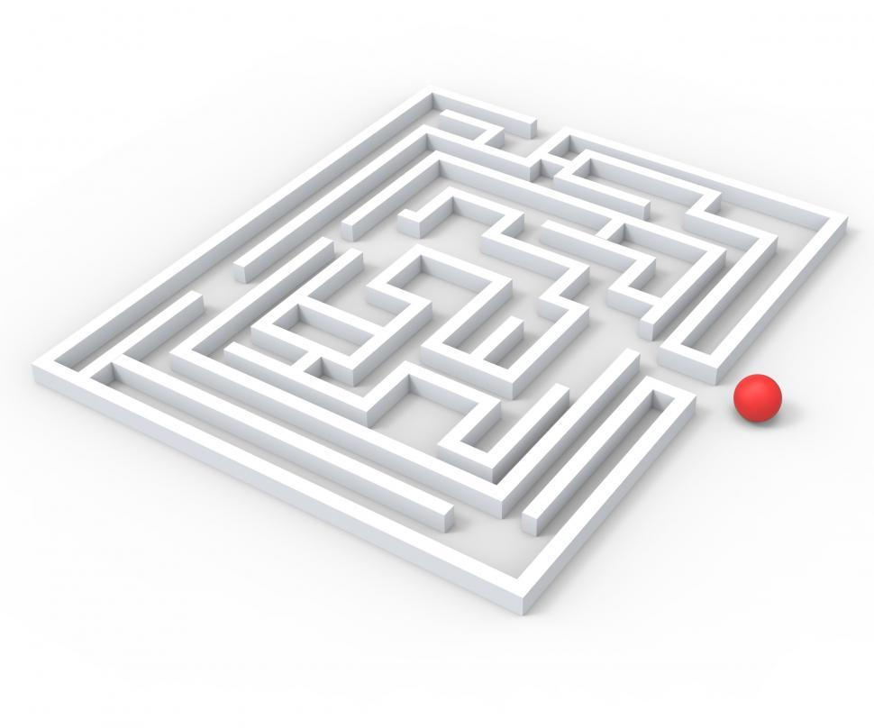 Download Free Stock HD Photo of Challenging Maze Shows Complexity And Challenges Online