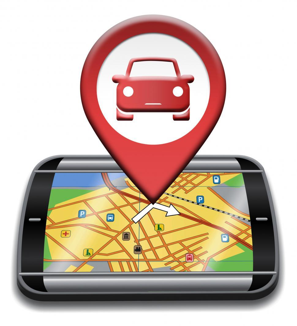 Download Free Stock Photo of Car Gps Indicates Navigation Auto And Automobile