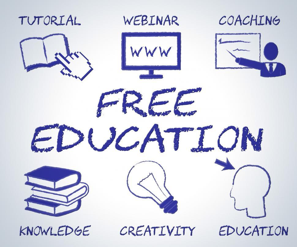 Download Free Stock Photo of Free Education Means No Charge And Educate
