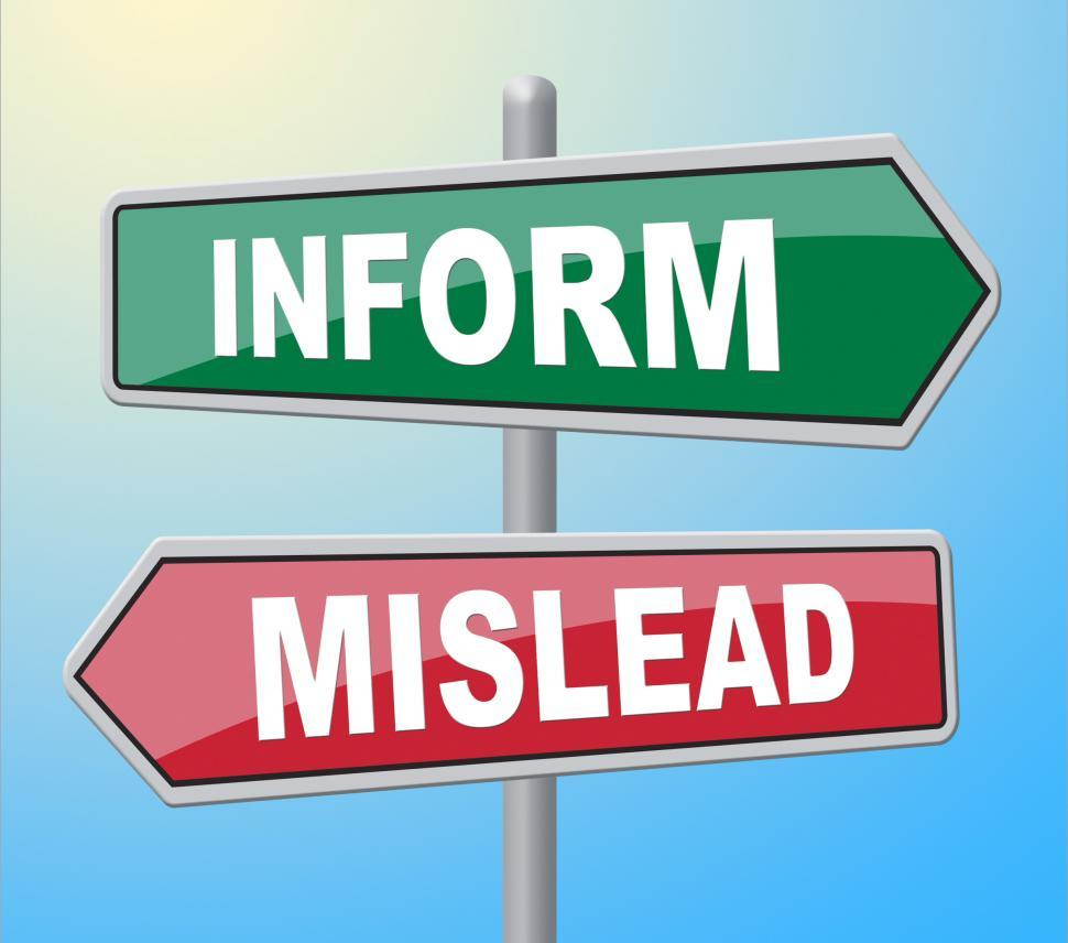 Download Free Stock HD Photo of Inform Mislead Indicates Telling Signboard And Board Online