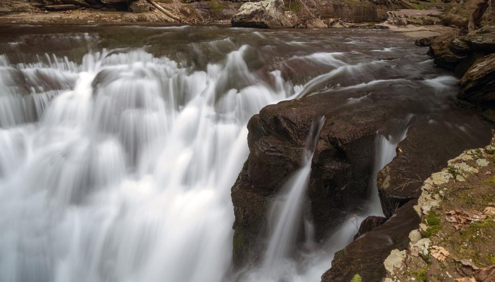 Download Free Stock Photo of Wide falls at Van Campens Glen