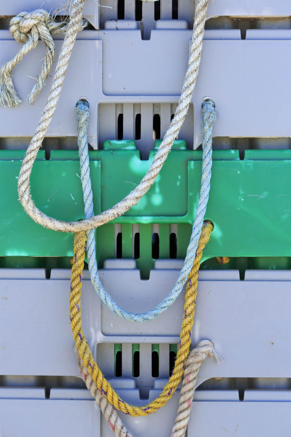 Download Free Stock HD Photo of Rope on lobster storage pens Online