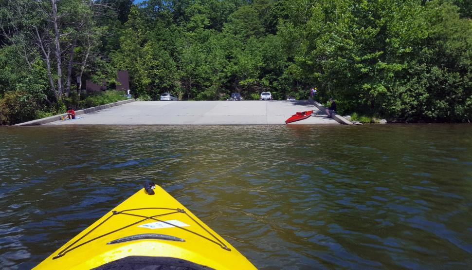 Download Free Stock HD Photo of Kayak Away From Boat Ramp Online