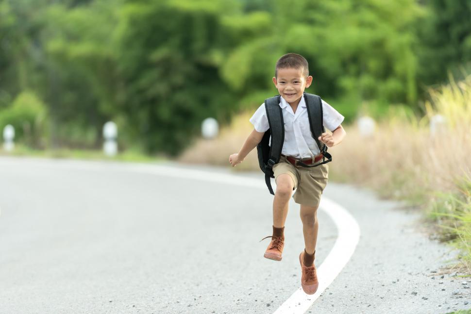 Download Free Stock Photo of Boy Running