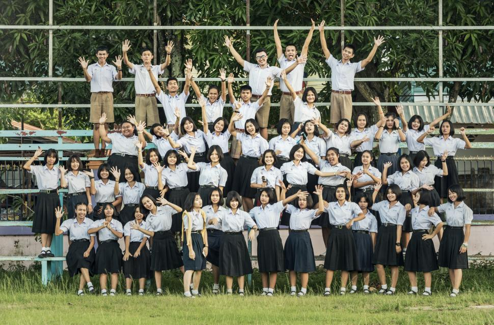 Download Free Stock HD Photo of School Group Online