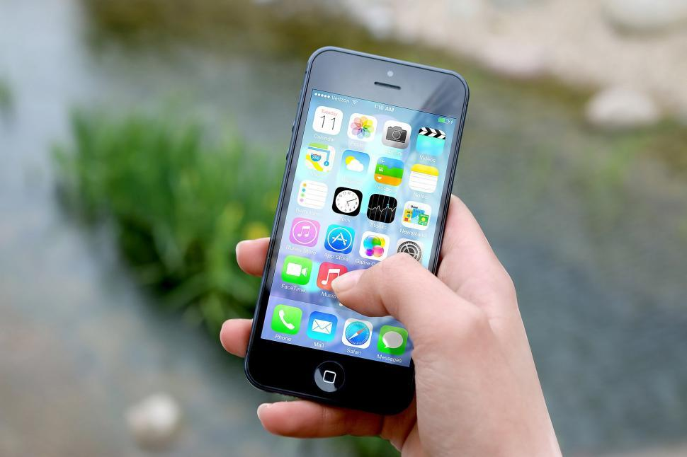 Download Free Stock Photo of Iphone Mobile phone