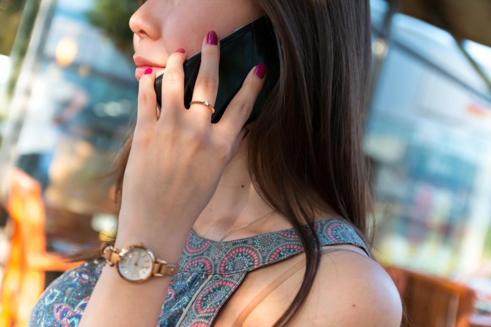 Download Free Stock Photo of Woman with Smartphone