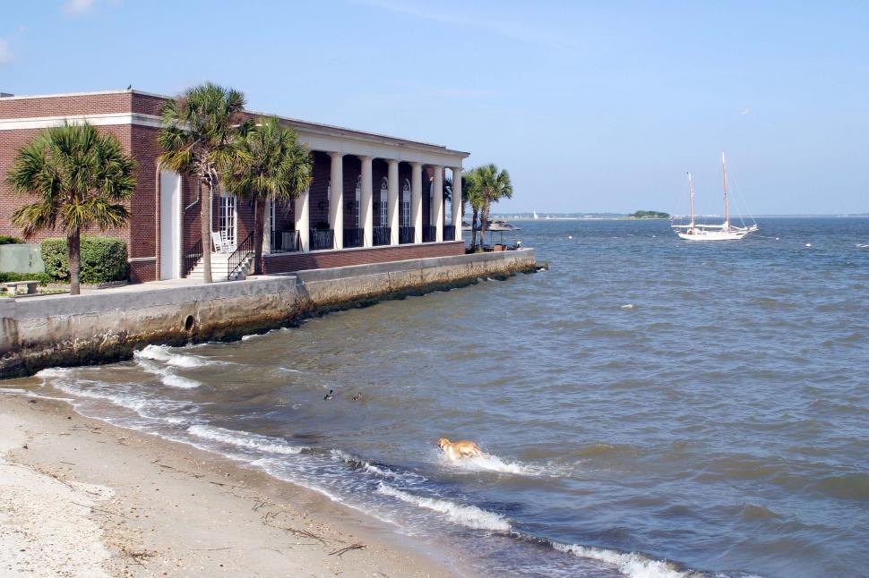 Download Free Stock Photo of south carolina pier & beach
