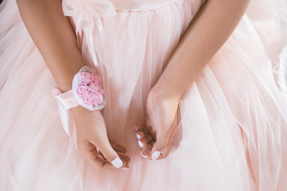 Download Free Stock Photo of Hand of a woman in a dress