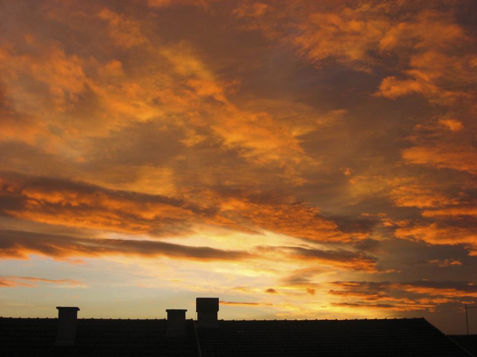 Download Free Stock HD Photo of orange sunset sky Online
