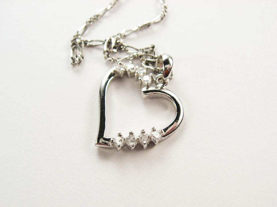 Download Free Stock Photo of silver necklace