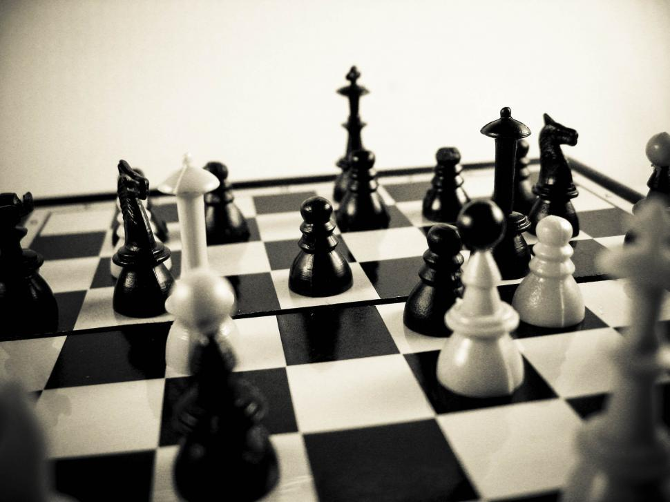 Download Free Stock Photo of chess figurines set