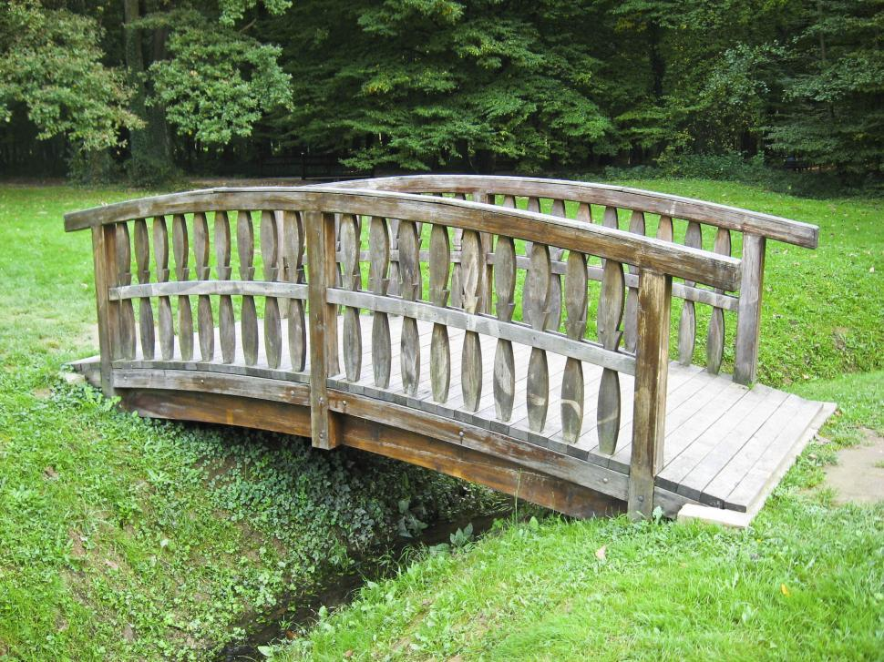 Download Free Stock Photo of wooden bridge