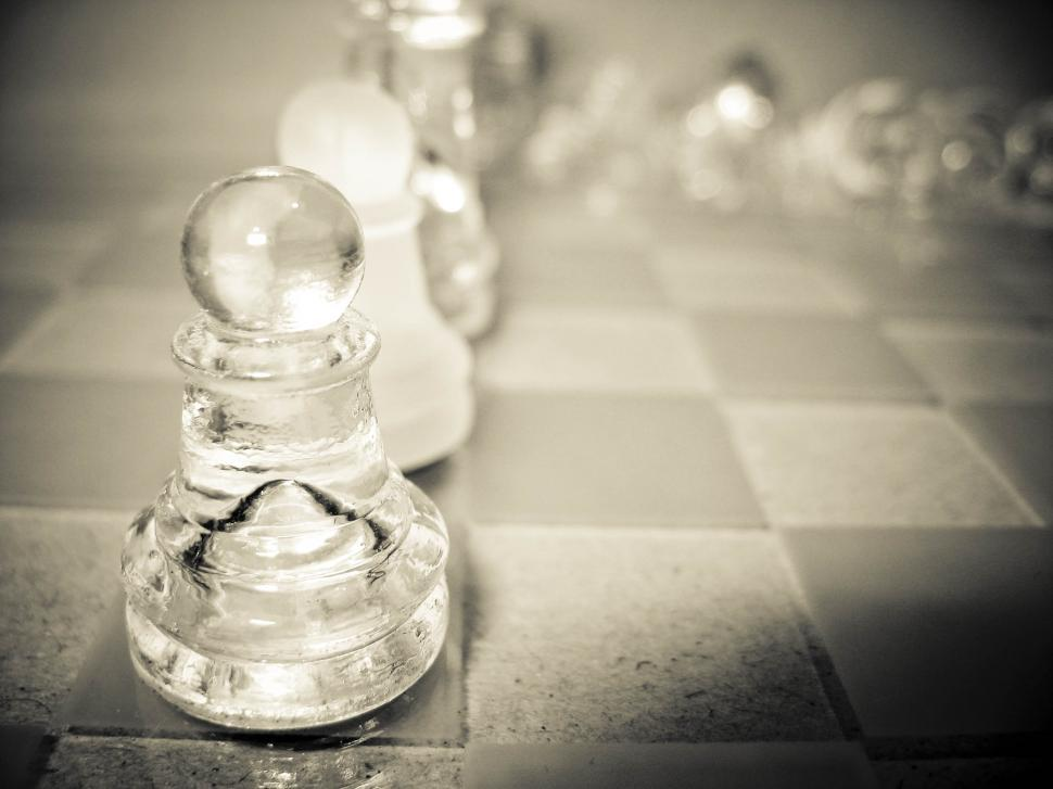 Download Free Stock HD Photo of glass chess figurine Online
