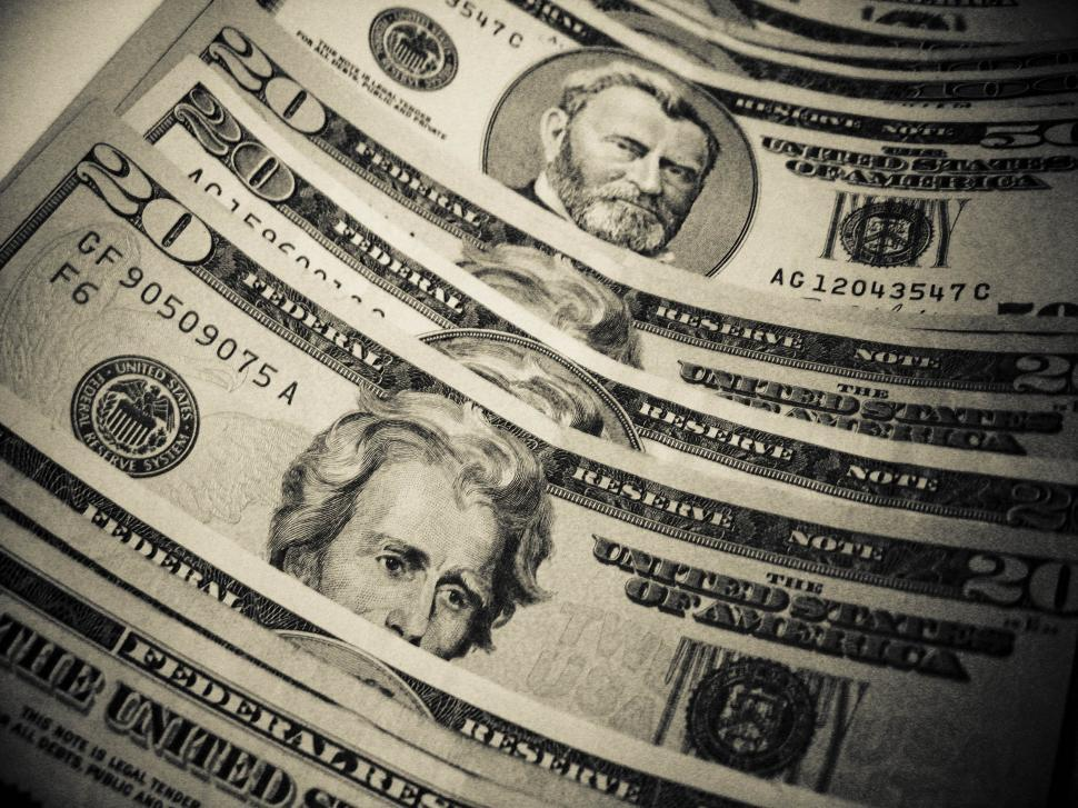 Download Free Stock Photo of Stack of US money