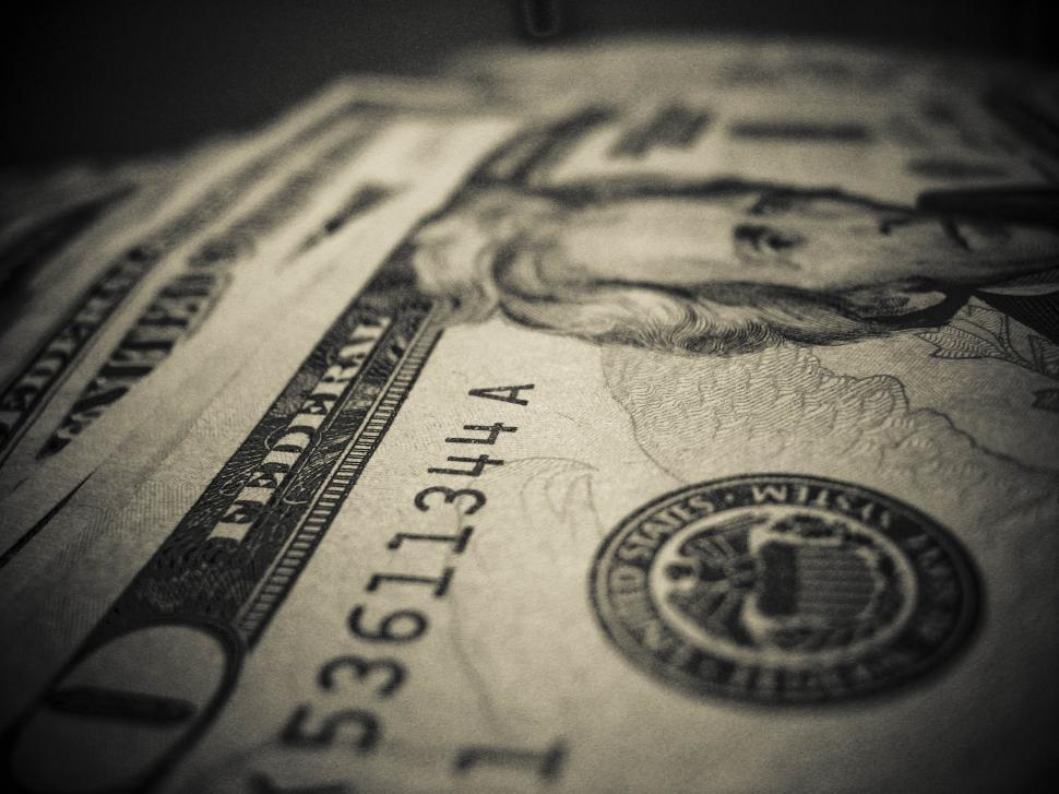 Download Free Stock HD Photo of angle of 20 dollar bills Online