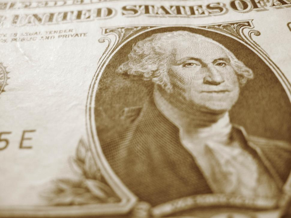 Download Free Stock Photo of George on the Dollar