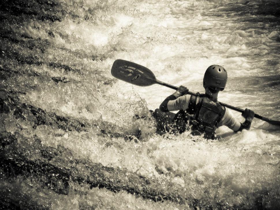 Download Free Stock HD Photo of Man kayaking Online