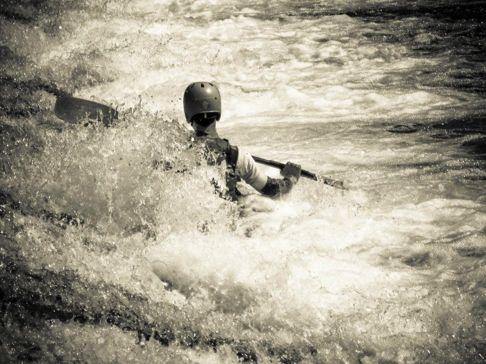 Download Free Stock HD Photo of Man kayaking in river Online